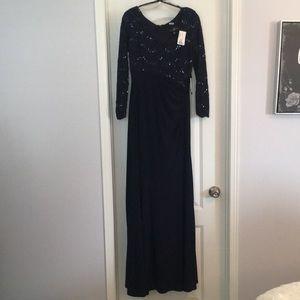 Navy Blue Evening Gown